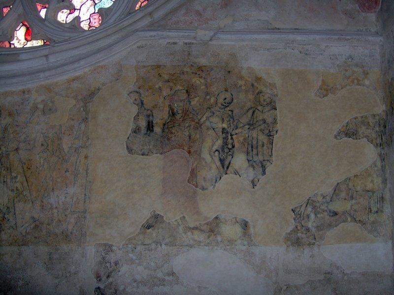 détail fresque danse macabre église Kernascléden