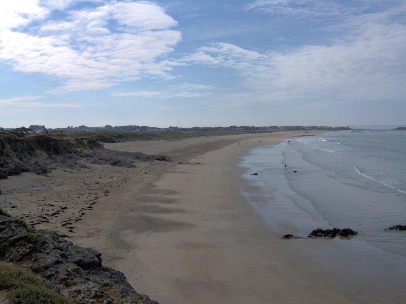 Grande plage du Fort Bloqué vue de son autre bout !