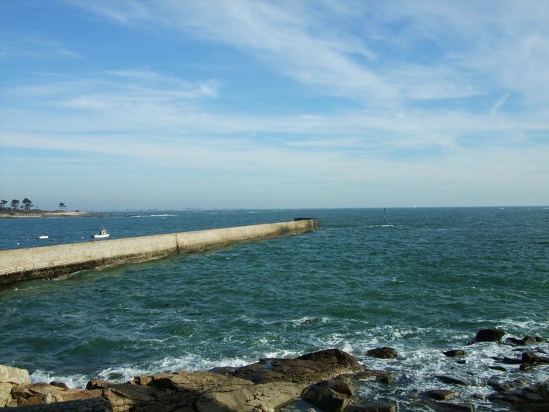 La jetée du port de Lomener