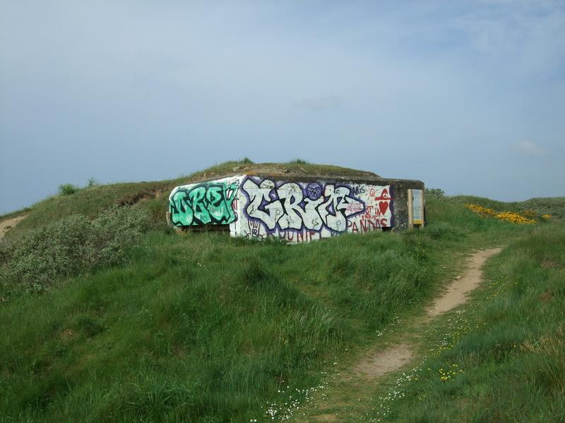 Blockhaus Fort-Bloqué en 2009 avec les anciens graphitis