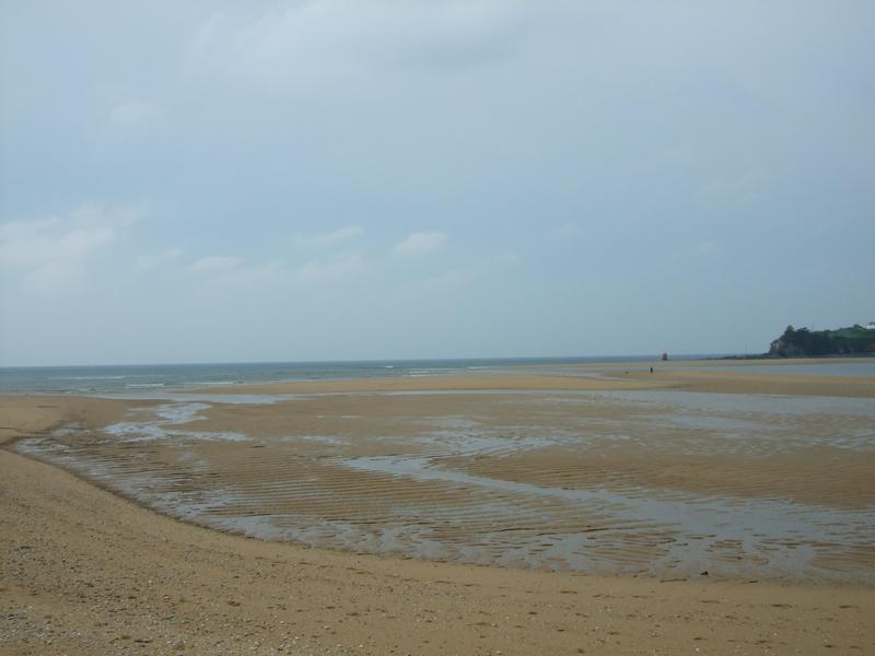 La plage du Pouldu Morbihan, chaque fois différente suivant les marées...
