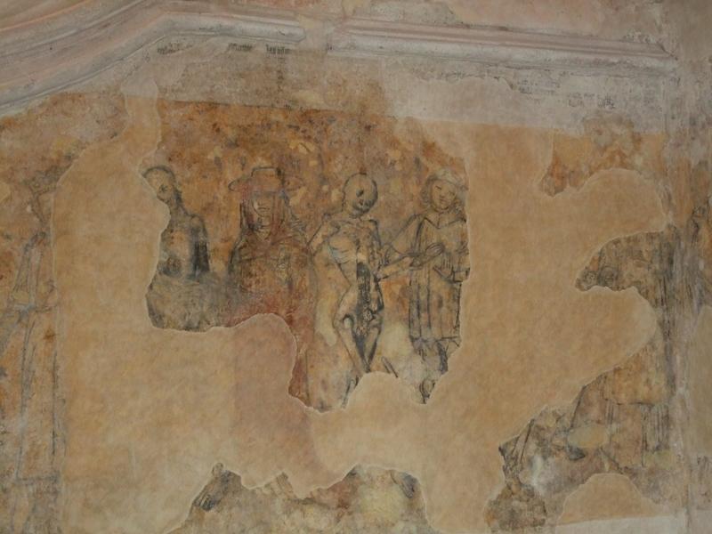 Notre-Dame de Kernascléden : détail danse macabre intérieur de l'église