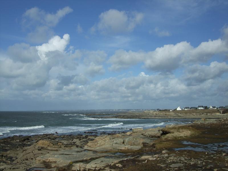 Rochers plage des Kaolins en direction du Fort Bloqué