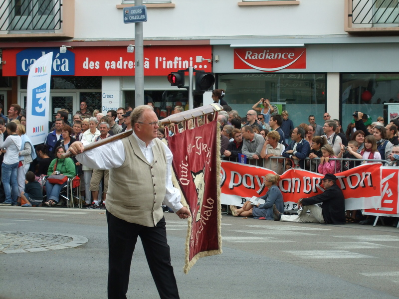 Homme en costume celte festival interceltique 2010