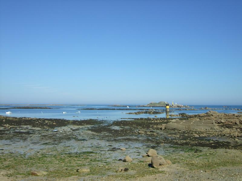 Roscoff, rochers en bord de mer