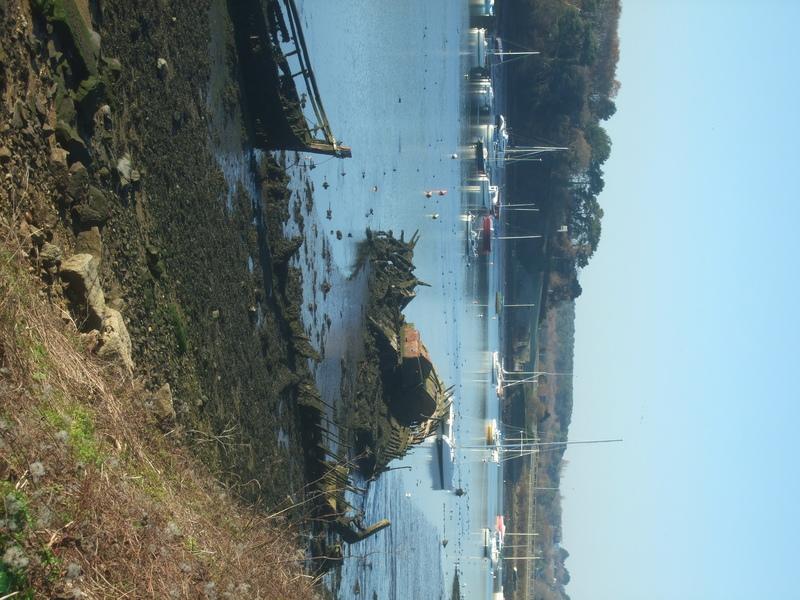 Épave de bateau rade de Lorient