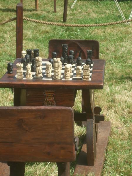 Jeu d'échecs fête médiévale Malestroit 2011
