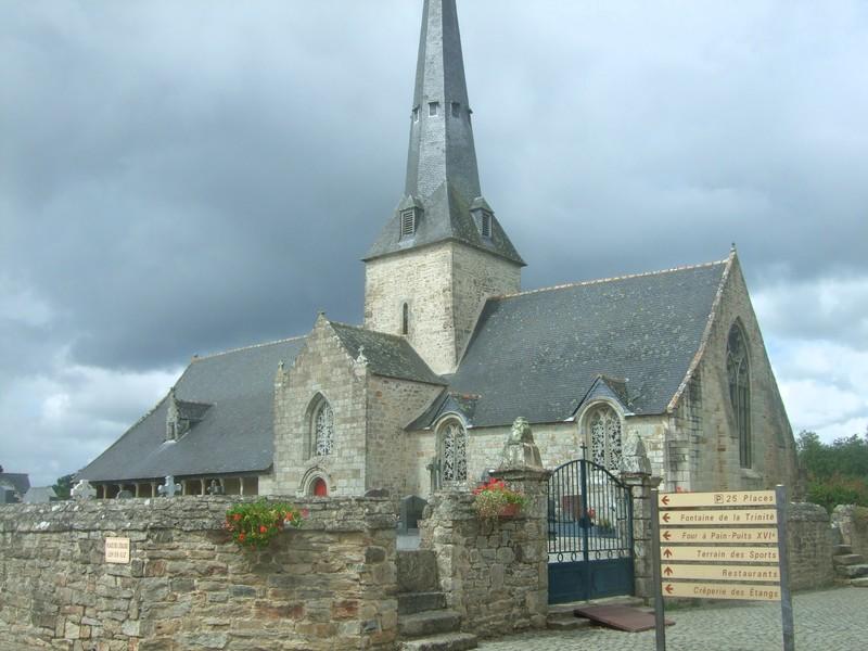 Église de Calan vue de l'extérieur
