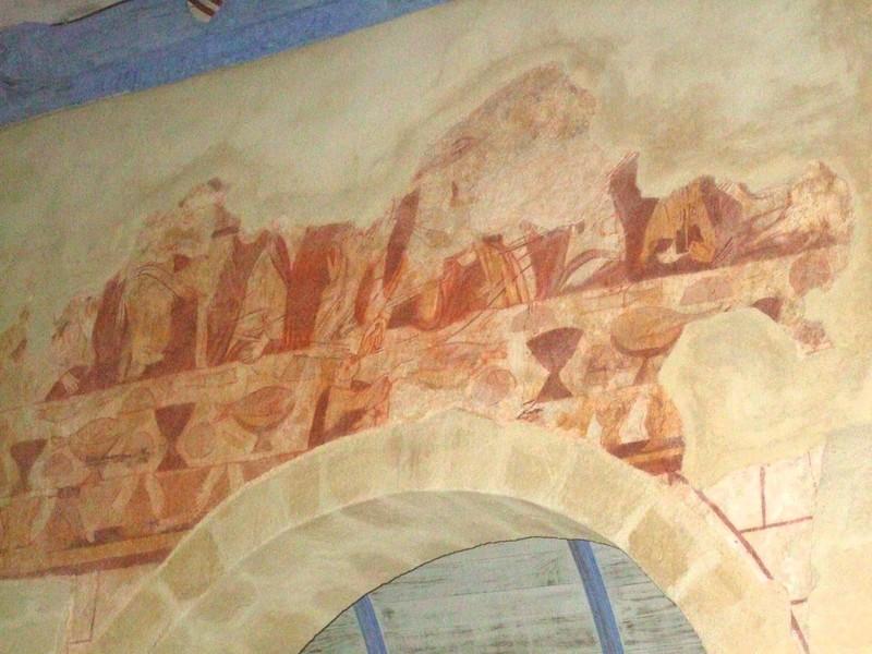 Fresque à l'intérieur de l'église de Calan