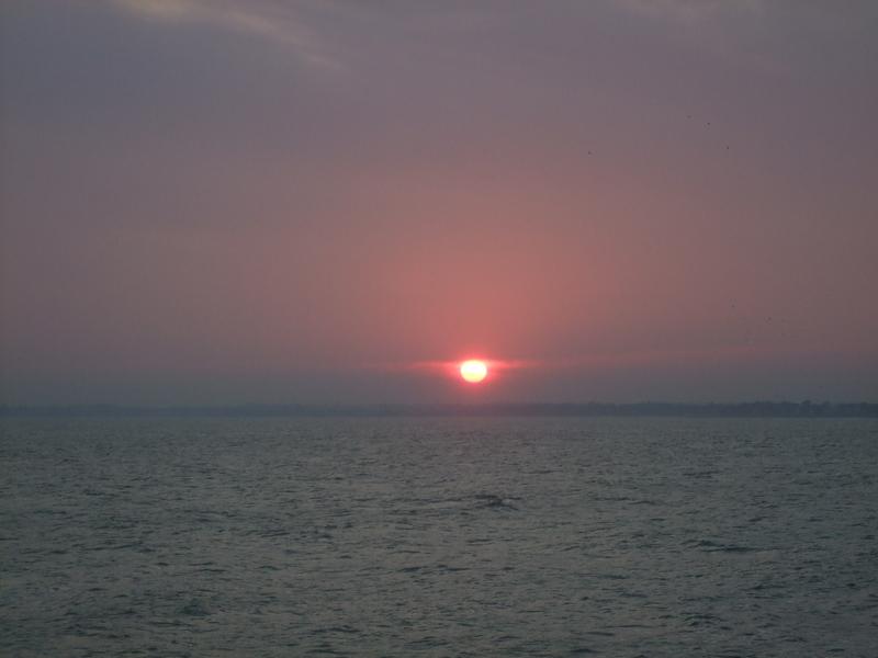 Coucher de soleil rougissant de plaisir :), Sainte-Marine Finistère