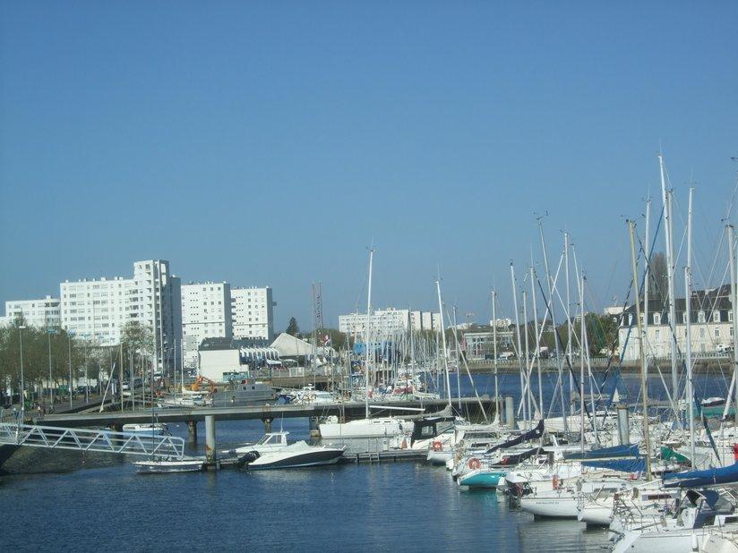 Le port de plaisance de Lorient où on pouvait voir Tara