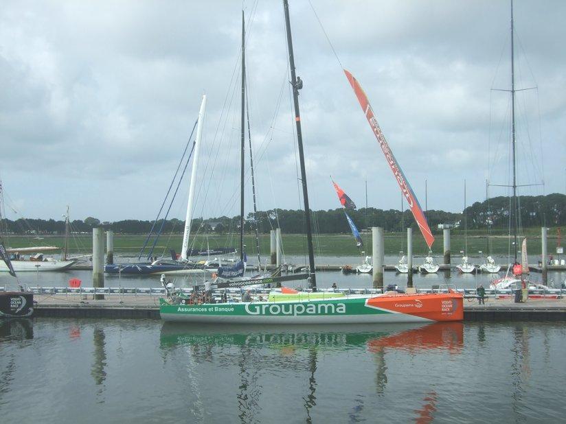 Volvo Race (VOR) 2012: le Groupama à quai à Lorient