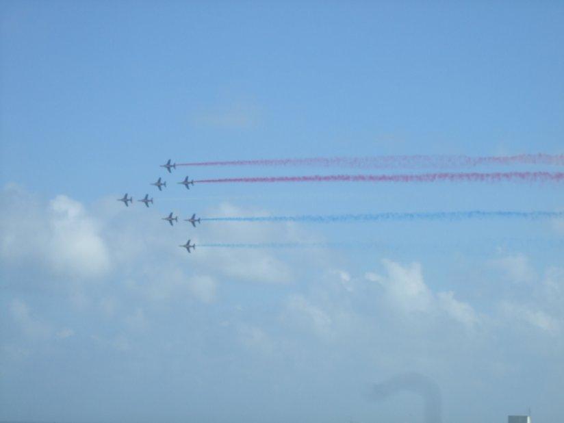 VOR 2012, spectacle de la Patrouille de France