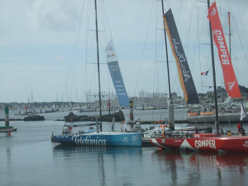 Volvo Race (VOR) 2012: le Telefonica à quai à Lorient