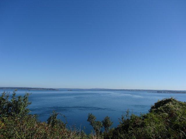 Vue sur la presqu'île de Crozon à partir de la pointe des Espagnols