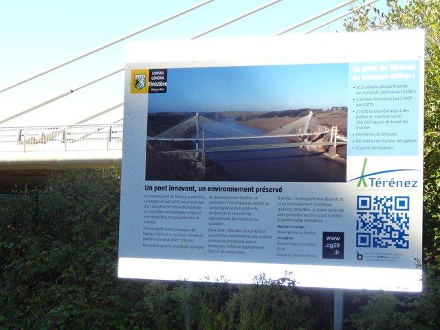Pont de Térénez (panneau explicatif)