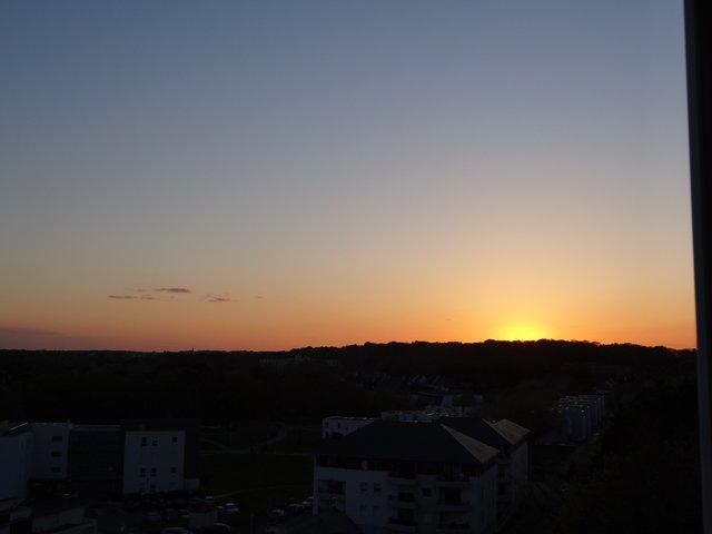 Coucher de soleil sur Ploemeur (Morbihan)