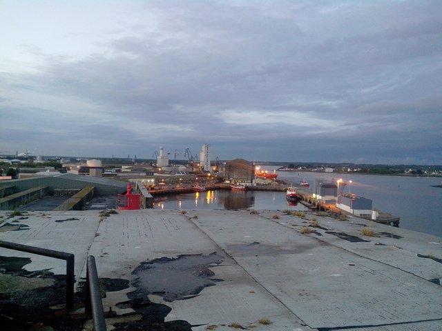Sur le toit du K1 à Lorient