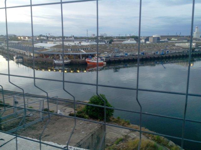 Port de pêche de Lorient, vu du toit du K1