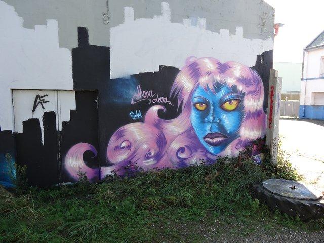 Street Art port de Lorient (graffitis) : Mona Lova